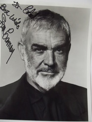 Connery, Sean - authentic autograph Bond 007