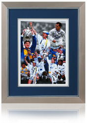 "LEEDS UNITED 1992 League Champs Hand Signed 16x12"" Montage"