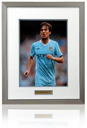 David Silva Manchester City Hand Signed Framed Photograph