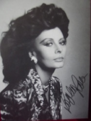 Loren, Sophia - 10 -  authentic autograph