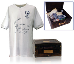 Tottenham 1961 Double Winners Shirt Hand Signed by 7