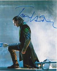 Tom Hiddleston signed IN PERSON 10x8 photo Avengers