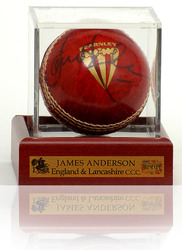 James Anderson signed cricket ball