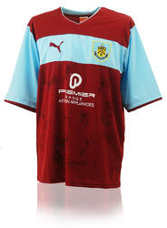 Burnley F.C. 2012/13 Squad Hand Signed Shirt
