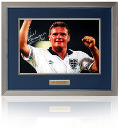 Paul Gascoigne hand signed 16x12 Italia90 Photograph
