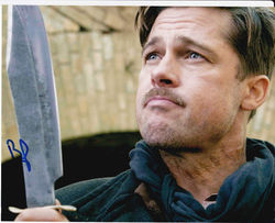 Brad Pitt Autograph Inglorious Basterds Signed In Person 10x8 Photo