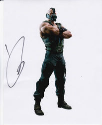 Tom Hardy Autograph DARK KNIGHT RISES signed in person 10x8 photo