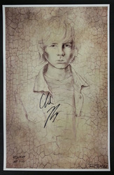 11x17 Chandler Riggs print by artist D'Angelo Roman, signed by Chandler Riggs and D'Angelo Roman