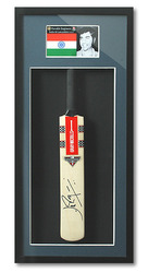 Farokh Engineer INDIA Cricket Signed Mini Bat