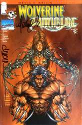 Wolverine Witchblade: Devil's Reign Ch#5, comic signed by Turner and Wohl