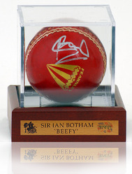 Sir Ian Botham 'Beefy' Hand Signed Cricket Ball