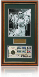Sir Sterling Moss hand signed FDC presentation