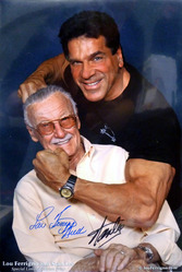 11x17 Lou Ferrigno and Stan Lee Special Limited Edition Print signed by Lou Ferrigno and Stan Lee