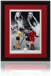 Frank McLintock hand signed 1971 FA Cup final photo
