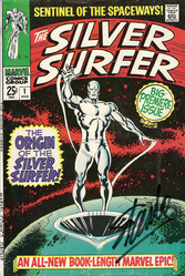 Marvel, The Silver Surfer #1, Sentinel of the Spaceways signed by Stan Lee