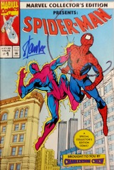 Marvel, Marvel Collector's Edition Presents: Spider-man #1, comic book has been signed by Stan Lee