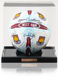 West Ham United 1980 FA Cup Hand Signed x12 Ball Football