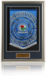 BLACKBURN ROVERS Squad Signed Pennant
