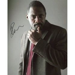 Idris Elba AUTOGRAPH Luther SIGNED IN PERSON 10x8 Photo