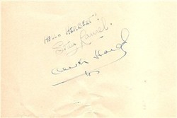 Laurel and Hardy signed album page
