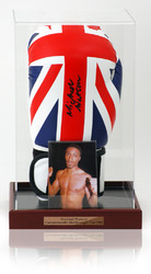 Michael Watson Hand Signed Boxing Glove in display case
