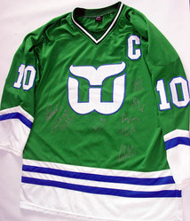 1985-86 Hartford Whalers Team Autographed Jersey & Video
