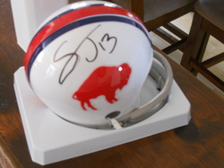 Signed mini helmet