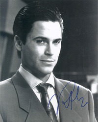 Rob Lowe signed 10x8 photo.