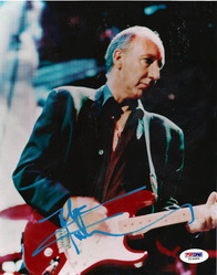 The Who Pete Townshend Autographed Signed Guitar Photo PSA