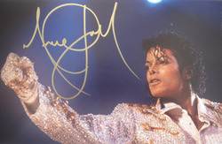 Michael Jackson signed 11x14 photo.