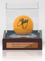 Snooker Ball hand signed by Stephen Hendry