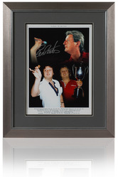 Large Eric Bristow Hand Signed Framed Montage