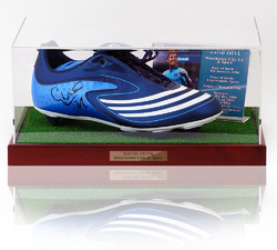 David Silva Hand Signed Manchester City Football Boot