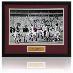 Dave Mackay & Alex Young Hand Signed Hearts photo