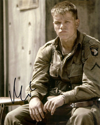 Matt Damon Signed 10x8 photo.