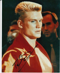 Dolph Lundgren Autograph ROCKY signed in person 10x8 photo