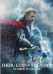 Chris Hemsworth & Kenneth Branagh Signed THOR: GOD OF THUNDER Number 13 Variant Comic Book