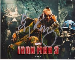 Ben Kingsley AUTOGRAPH Iron Man 3 SIGNED IN PERSON 10x8 photo