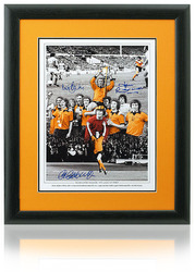 Wolverhampton Wanderers 1974 hand signed League Cup Final Montage