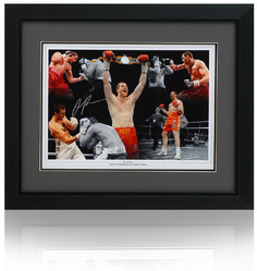 "David Price hand signed 16x12"" Boxing Montage"