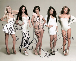 The Saturdays sogned 10x8 photo.