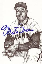 Monte Irvin Signed Post Card