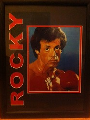 Sylvester Stallone Autograph Rocky Signed In Person Framed in Custom mount