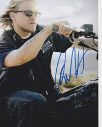 Charlie Hunnam AUTOGRAPH Sons Of Anarchy SIGNED IN PERSON 10x8 photo