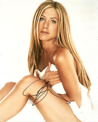 Jennifer Aniston signed 10x8 photo.