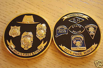 Connecticut State Police Challenge Coin - KUK-1XF-0H3-Z4J