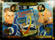 Mr Fantastic and Invisible Woman action figures, signed by Stan Lee