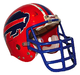 Buffalo Bills Ray Bentley game used helmet