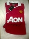 Wayne Rooney signed Manchester United home Shirt